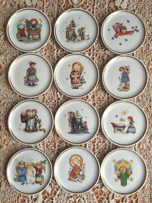 Винтажная посуда. Ярмарка Мастеров - ручная работа. Купить Коллекционные тарелочки Hummel. Handmade. Фарфор, ручная работа