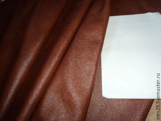 """Шитье ручной работы. Ярмарка Мастеров - ручная работа. Купить Натуральная кожа """"Рыжий мраморный"""". Handmade. Кожа, материалы для творчества"""