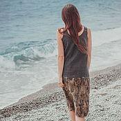 """Одежда ручной работы. Ярмарка Мастеров - ручная работа Валяное платье """"Rustic graphite"""". Handmade."""