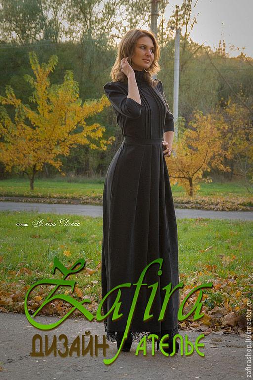 Платья в пол из костюмной ткани