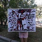 """Картины и панно ручной работы. Ярмарка Мастеров - ручная работа Репродукция литографии Дали """"Женщины-цветы"""". Handmade."""