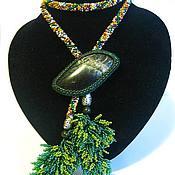 Украшения handmade. Livemaster - original item Lariat Summer Decoration of beads and stones beaded Harness. Handmade.