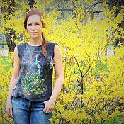 Одежда ручной работы. Ярмарка Мастеров - ручная работа Валяный топ       Её звали мечтой. Handmade.