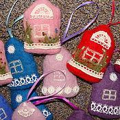 Сувениры и подарки ручной работы. Ярмарка Мастеров - ручная работа Домики саше с лавандой. Handmade.