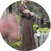 Одежда ручной работы. Ярмарка Мастеров - ручная работа Платье из шифона в горошек в винтажном стиле. Handmade.