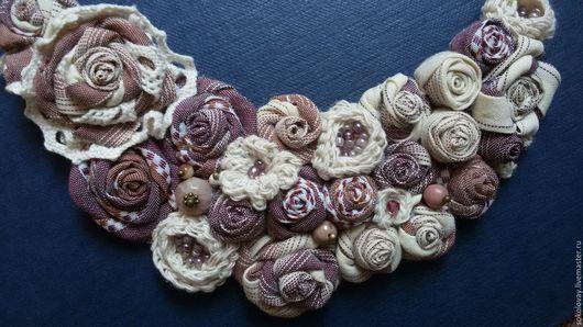 Колье, бусы ручной работы. Ярмарка Мастеров - ручная работа. Купить Колье текстильное Варенье из роз.. Handmade. Подарок женщине