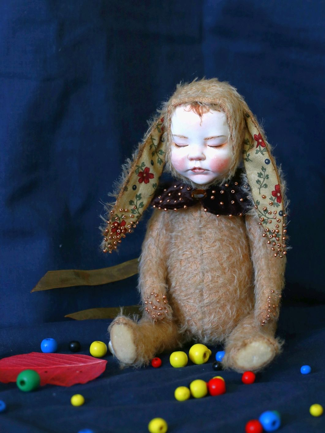 Куколка тедди долл, спящая зайка, Интерьерная кукла, Воронеж,  Фото №1