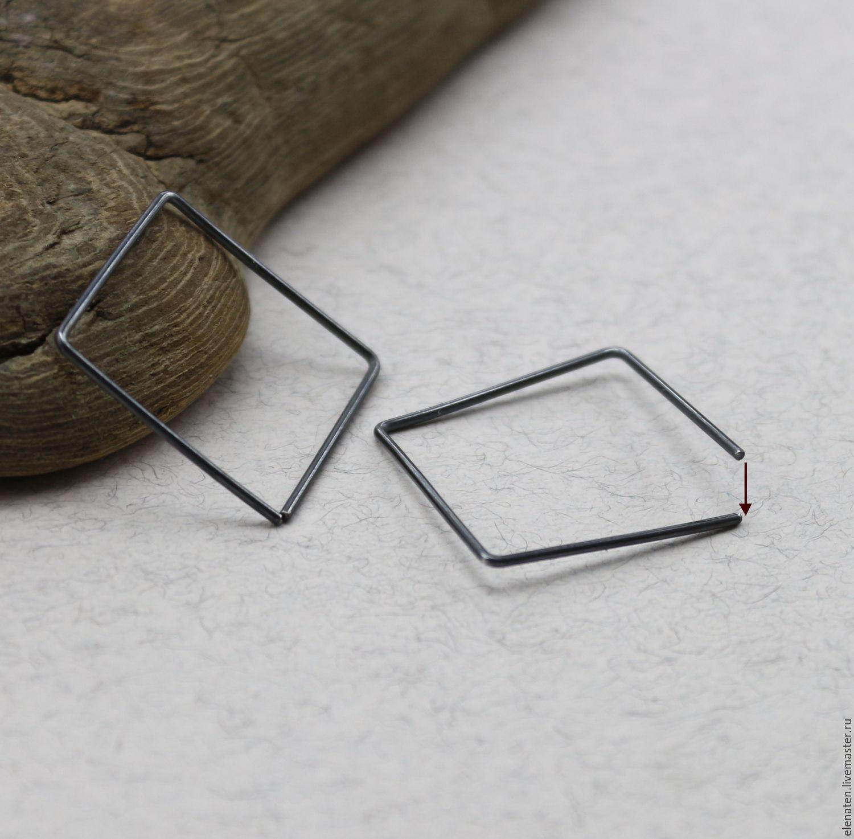 серьги квадратные фото