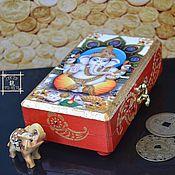 Фен-шуй и эзотерика handmade. Livemaster - original item Box money Feng Shui - Ganesha - Feng Shui for business. Handmade.