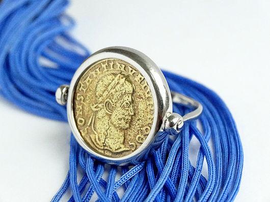 """Кольца ручной работы. Ярмарка Мастеров - ручная работа. Купить Серебряное кольцо """"Монета"""". Handmade. Подарок женщине, красивое кольцо"""