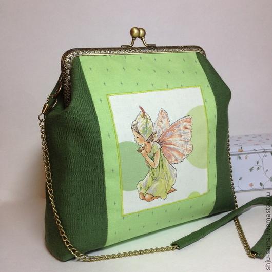 """Детские аксессуары ручной работы. Ярмарка Мастеров - ручная работа. Купить Сумочка для девочки """"Феечка"""". Handmade. Зеленый, сумка для девочки"""