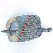 Украшения handmade. Livemaster - original item Barrette Accent (silver, brooch, hair pin shawl). Handmade.