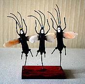 """Куклы и игрушки ручной работы. Ярмарка Мастеров - ручная работа Испанские мотыльки """"Три Уса"""". Handmade."""