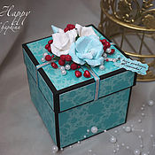 Открытки handmade. Livemaster - original item box and wishes with a surprise. Handmade.