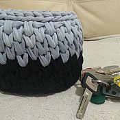 Корзины ручной работы. Ярмарка Мастеров - ручная работа Корзины: маленькая корзиночка для хранения мелочей. Handmade.