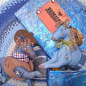"""Куклы и игрушки ручной работы. Ярмарка Мастеров - ручная работа Текстильные лошадки """"Джинсовая любовь"""". Handmade."""