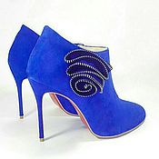 Boots handmade. Livemaster - original item Shoes Ultramarine. Handmade.
