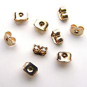 Материалы для творчества handmade. Livemaster - original item Plugs for puset earrings gold plated 24K South Korea pair. Handmade.