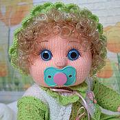 Куклы и игрушки ручной работы. Ярмарка Мастеров - ручная работа Кукла-пупс вязаная с соской. Handmade.