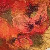 """Аксессуары ручной работы. Ярмарка Мастеров - ручная работа шарф """"Маки во ржи"""". Handmade."""