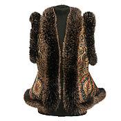 Одежда handmade. Livemaster - original item Vest pavlovoposadskaja shawl