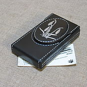 Сувениры и подарки handmade. Livemaster - original item Cigarette case. sigaretta. Snowdrops on black. Thin cigarettes.. Handmade.