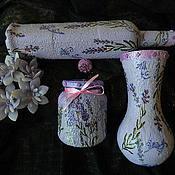 Для дома и интерьера ручной работы. Ярмарка Мастеров - ручная работа ЛАВАНДОВЫЙ РАЙ  кухонное трио. Handmade.