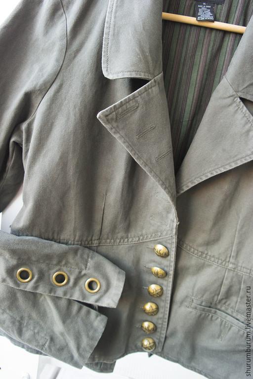 Одежда. Ярмарка Мастеров - ручная работа. Купить пиджак эльфийский;). Handmade. Хаки, милитари, материалы для творчества, подклад хлопок