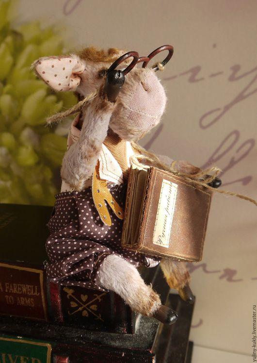 Мишки Тедди ручной работы. Ярмарка Мастеров - ручная работа. Купить Ослик тедди Книжный моль. Handmade. Бледно-сиреневый