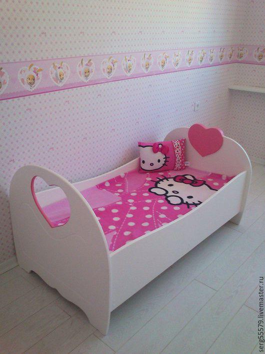 """Детская ручной работы. Ярмарка Мастеров - ручная работа. Купить Кровать """"Сердечки"""". Handmade. Розовый, мебель для детей"""