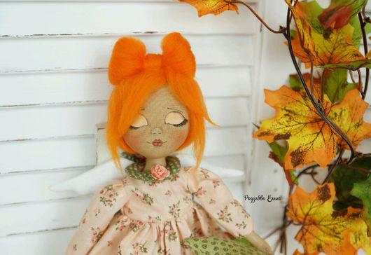 Коллекционные куклы ручной работы. Ярмарка Мастеров - ручная работа. Купить Текстильная интерьерная кукла Софи сонный ангел. Handmade.
