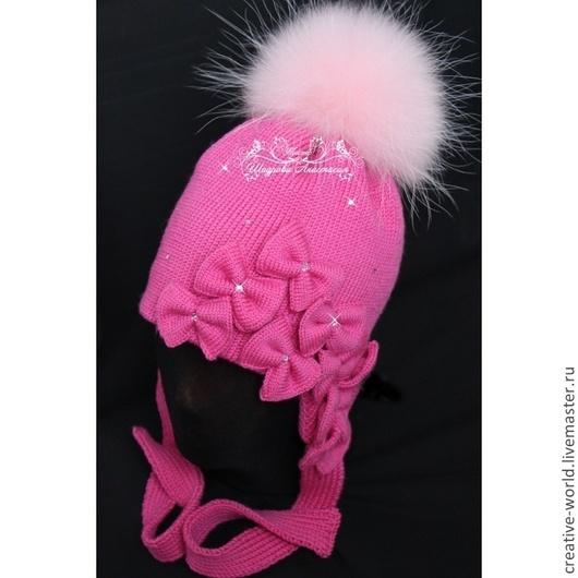 Шапки и шарфы ручной работы. Ярмарка Мастеров - ручная работа. Купить теплая мериносовая детская шапочка. Handmade. Теплая шапка