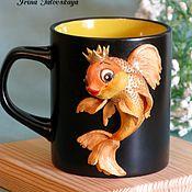 """Посуда ручной работы. Ярмарка Мастеров - ручная работа Кружка """"Золотая рыбка"""". Handmade."""
