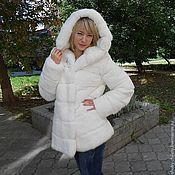 Одежда handmade. Livemaster - original item Coat white hooded. Handmade.