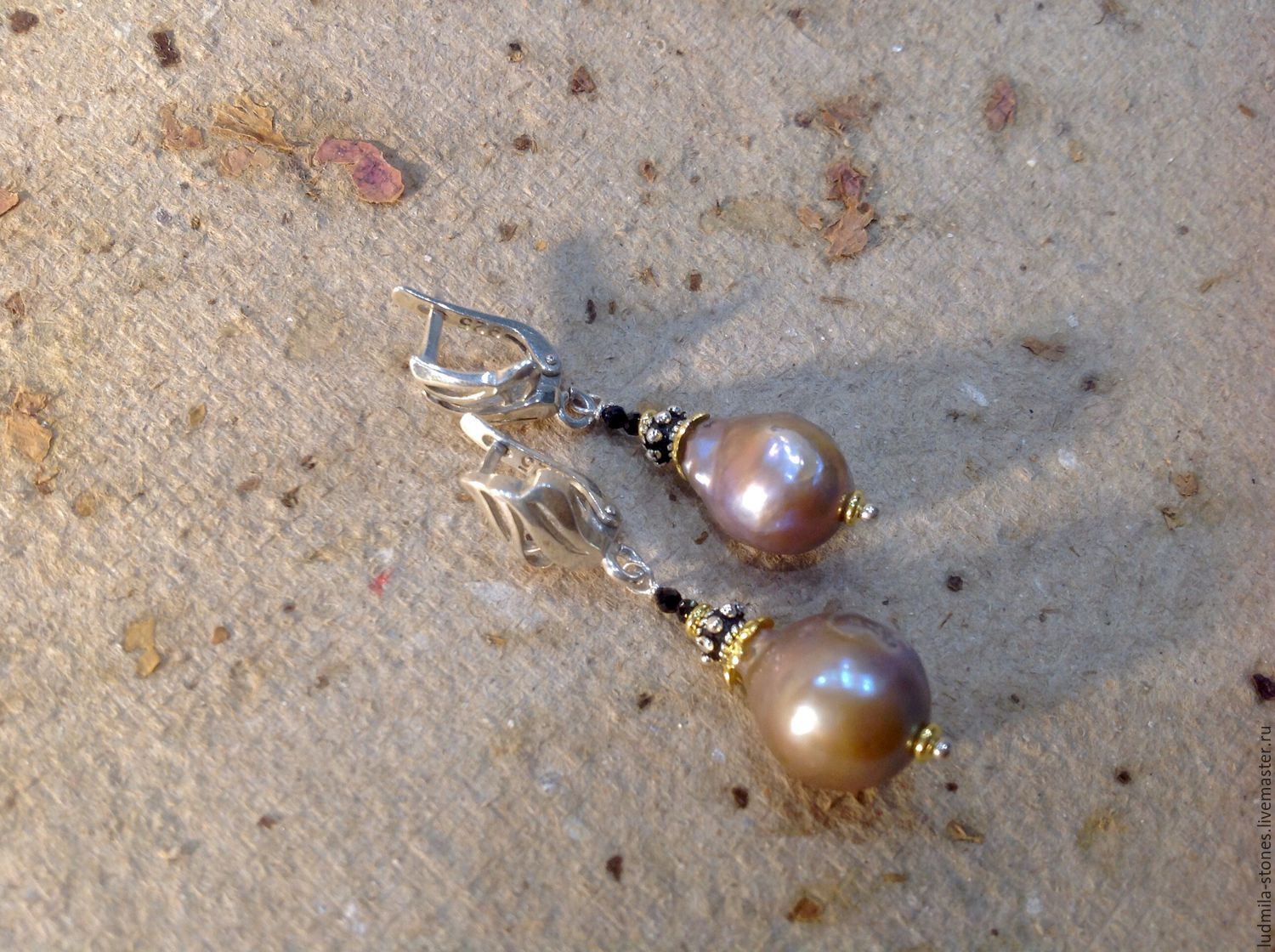 Silver earrings with pearls 'the privilege of the elite', Earrings, Moscow,  Фото №1