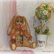 Куклы и игрушки ручной работы. Ярмарка Мастеров - ручная работа авторская игрушка тедди- зайка Олюшка. Handmade.