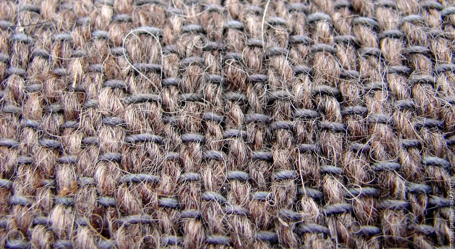 The grey fabric from dog hair