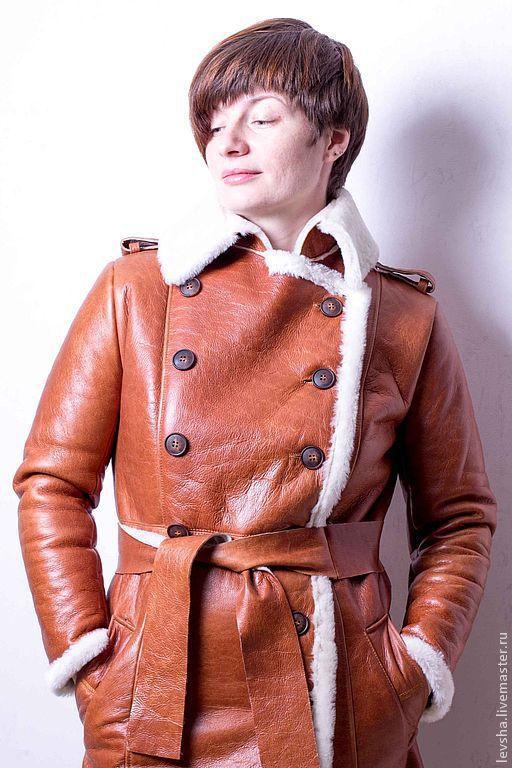"""Верхняя одежда ручной работы. Ярмарка Мастеров - ручная работа. Купить Дублёнка женская  """"Рыжая"""". Handmade. Рыжий, дубленка рыжая"""