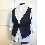 Одежда handmade. Livemaster - original item Vest 50p / wool dark blue. Handmade.