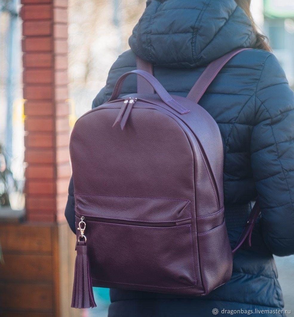 Backpack leather women 'Shie' (Burgundy), Backpacks, Yaroslavl,  Фото №1