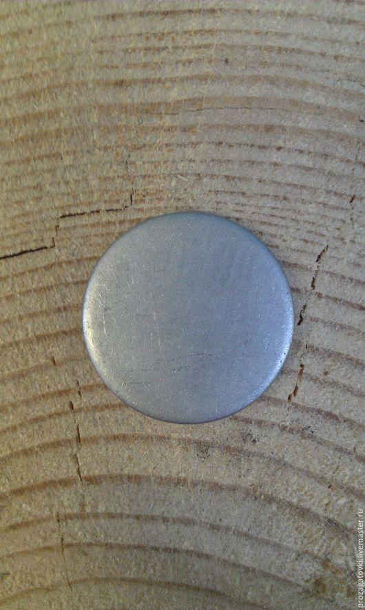 prozagotovki OMD Lab Монетная заготовка из алюминия, А5М, диаметр 25 мм, толщина 2 мм. Цвет серебристый.