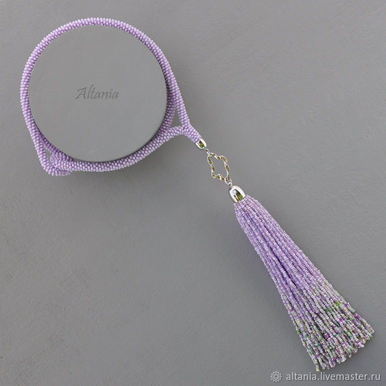 Waiting for spring - purple with pendant with bead brush, Necklace, Sarov,  Фото №1