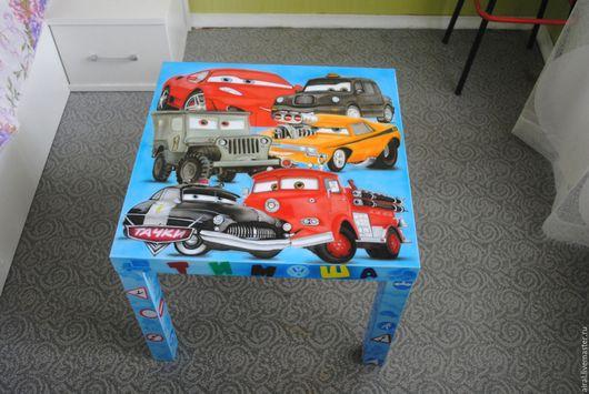 Детская ручной работы. Ярмарка Мастеров - ручная работа. Купить Детский столик. Handmade. Комбинированный, рисунок на заказ
