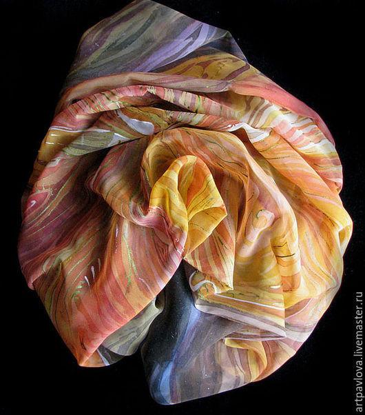 """Шарфы и шарфики ручной работы. Ярмарка Мастеров - ручная работа. Купить платок """"Дервиш"""". Handmade. Рисунок, платок, восточный, батик"""