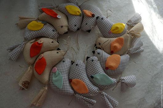 Комплекты аксессуаров ручной работы. Ярмарка Мастеров - ручная работа. Купить Текстильные птички. Handmade. Текстильные птицы, уютный дом