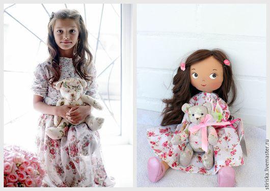 Игрушки животные, ручной работы. Ярмарка Мастеров - ручная работа. Купить Портретная кукла ручной работы. Handmade. Розовый