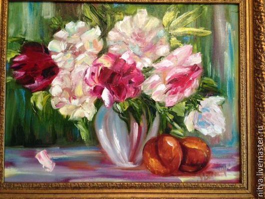Ню ручной работы. Ярмарка Мастеров - ручная работа. Купить Пионы в цвету. Handmade. Картина в подарок, картина в детскую