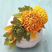Украшения ручной работы. Ярмарка Мастеров - ручная работа Ободок с хризантемами из фоамирана. Handmade.
