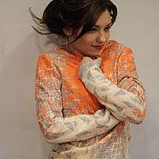 Одежда ручной работы. Ярмарка Мастеров - ручная работа Жакет валяный летний. Handmade.