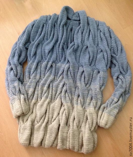 Пиджаки, жакеты ручной работы. Ярмарка Мастеров - ручная работа. Купить Кардиган с градиентом. Handmade. Разноцветный, вязаный кардиган